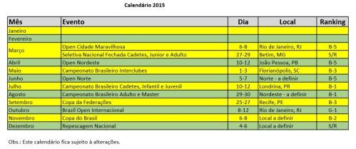 CALENDARIO CBTKD 2015